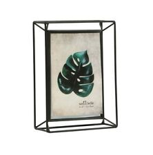 """Photo Frame Industrial Style 3D Metal Portrait Scandi Picture Holder 4 x 6"""""""