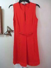 VENUS - Orange Scoop Neck w/long Keyhole Opening Sleeveless Knit Dress -  Size 6