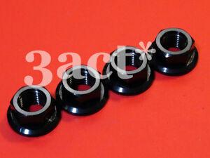 4 - M12 x 1.25 Pitch Titanium/Ti Sprocket Flange Bolt Nut - Ti Gold Blue Black