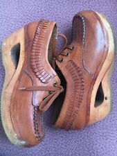 Vintage Cognac Leather Town & Country Brazilian shoe Size 9B