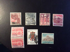 SPAIN- lot of 8 stamps SHIELD, ARCHITECTURE  ETC S*