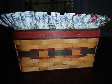 Longaberger 1996 Address Basket Set with Mothers Liner & Protector