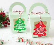 Christmas Carrier Gift Boxes XMAS Cookies Box Chocolate Cupcakes Truffles