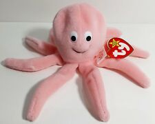 """TY Beanie Babies """"INKY"""" the Cute Pink Octopus - MWMTs! RETIRED! PERFECT GIFT!"""