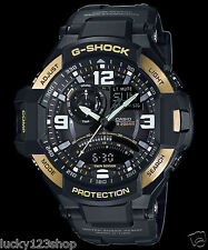 GA-1000-9G Black Gold Casio Men's Watches G-Shock Compass 200M Resin Band New