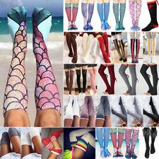 Ladies Womens Thigh High Over the Knee Socks Long Cotton Stockings Funny Socks