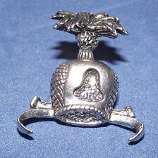 Pewter Hawks Hood Falconry Brooch Pin  Quality