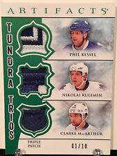 12-13 Artifacts Tundra Trios Kessel/Kulemin/MacArthur Triple Patch #/18 Leafs