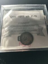 1911 Coin Mart Graded Canadian,  5 Cent, **F-15**