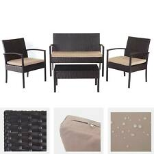 Bistroset tavolo in vetro 60x60cm NERO 2x SEDIE batch tessili Grigio//Nero