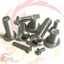 M3 M4 M5 M6 Socket Button Screws - Dome Head - Hex Allen Bolts - A2 Stainless