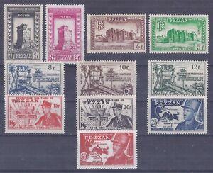 Colonies françaises  - Fezzan - n° 43 à 53*