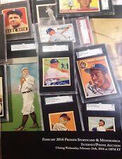 Premier Sportscard & Memorabilia Internet/Phone Auction new catalog