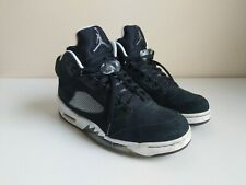 Air Jordan 5 V Retro Oreo 2013 Sz 9 Black White Suede