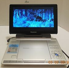 """Panasonic DVD-LS90 Portable DVD Player 9"""" Screen with Case Power Adapter Remote"""