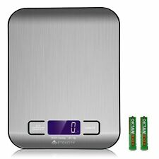 Etekcity Food Digital Kitchen Weight Scale Grams and Ounces Small Backlit Steel