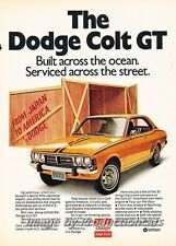1973 Dodge Colt GT Mitsubishi built Original Advertisement Print Art Car Ad H64