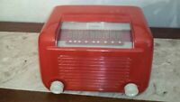 GORGEOUS 1946 FULLY RESTORED RED 1946 SONORA RBU-176 ART DECO ANTIQUE TUBE RADIO