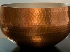 Threshold Round Hammered Rose Gold Aluminum Serving Punch Bowl, New Open Box