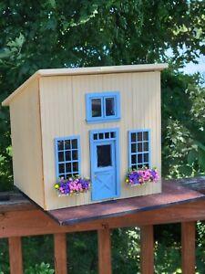 Vtg Artisan OOAK Store Front Seaside Dollhouse Room Box Miniature 1:12 Shop