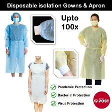 Disposable Isolation Gown Cover Apron Medical Surgical Protection Coat UPto 100x