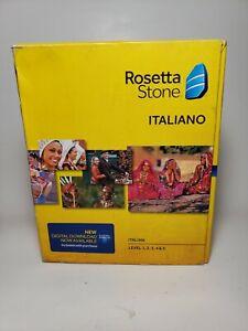 New ITALIAN Rosetta Stone Italiano Level 1 2 3 4 5  SEALED verson 4 learn faster