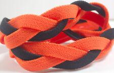 NEW! Orange Black Braided Hair Band Head Under Sweaty Headband Armour Non Slip