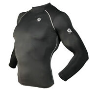 Mens COOVY Compression Wear Under Base Layer Top Tight Long Sleeve T-Shirts