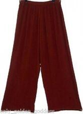 brown pants elastic waist wide leg  4X 5X 6X plus size ZD245