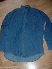 Wrangler Twenty X   Jean Co Western Shirt size 15 1/2 33 / 34 blue denim