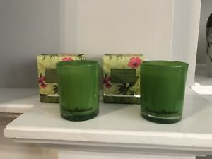 Set of 2 Tommy Bahama Pineapple Cilantro Scented Poured Candles 7.5 oz each