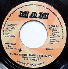 J.R BAILEY vg++ Northern Soul PROMO 45 Everything I Want I See In You F2453