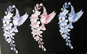 CARNATION CRAFTS 6 DIE CUTS 2 OF EACH COLOR ( FEATHERED FANCY)