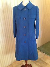 Vintage Saks Fifth Avenue 100% Cashmere Blue Women's Car Coat