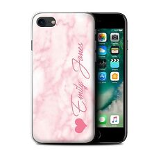Personalised Marble Case for Apple iPhone 7/Text/Name/Initial Custom DIY Cover