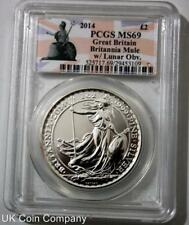 2014 Great Britain Britannia Mule With Lunar Horse Obverse Britannia PCGS MS69