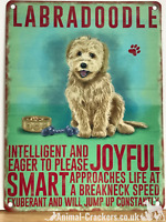 20cm metal vintage style Labradoodle lover gift breed character hang sign plaque