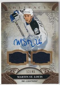 20/21 UD ARTIFACTS MARTIN ST.LOUIS DUAL GAME JERSEY AUTOGRAPH AUTO /45 #159