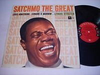 Louis Armstrong Satchmo the Great Sound Track 1957 Mono LP VG++
