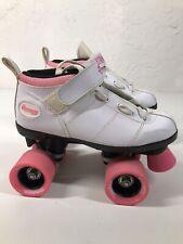 Chicago Roller Skates Bullet Women Size 4 White Pink Quad Skates speed ladies