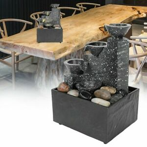 Tabletop Rockery Water Fountain Ornament For Indoor Home Office Table Decoration