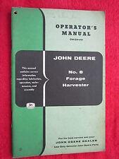 VINTAGE ORIGINAL JOHN DEERE No. 8 FORAGE HARVESTER OPERATORS MANUAL