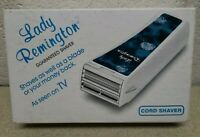 VTG LADY REMINGTON CORDED SHAVER WER 4000 NEW FREE SHIP FEMALE  BLUE BOX NOS