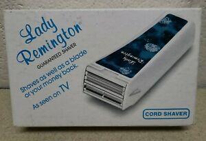 VTG LADY REMINGTON CORDED SHAVER WER 4000 NEW FREE SHIP FEMALE  BLUE BOX NOS