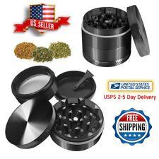 Black 4 Piece Layers Metal Tobacco Crusher Hand Muller Smoke Herbal Herb Grinder