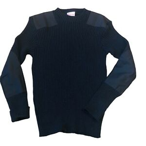 Blauer Commando Wool Sweater XL Police Blue New With Tags Uniform England