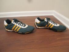 Classic 2005 Used Worn Size 14 Adidas Goodyear Racer Shoes Green Gold Black