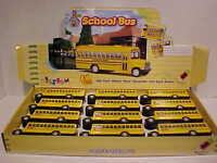 12 Pack of School Bus Long Nose Die-cast 1:50 Kinsfun 5 inch Yellow