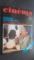 Revista Cinema Special Jacques Tati N º 289 Janvier 1983 Buen Estado