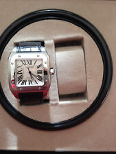 Cartier Santos 100 Gents XL Rare & Vintage Automatic Watch-Original Box+Papers+